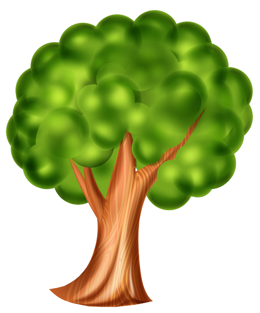 Cartoon Tree PNG Clip Art 3d effect