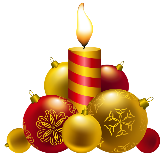 Christmas Candles PNG Clipar