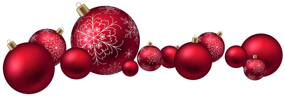 Red Christmas Ball PNG Clipart