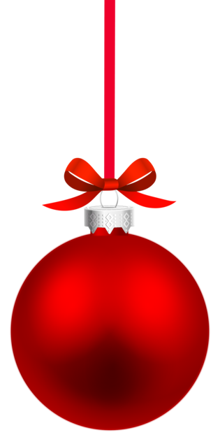 Red Hanging Christmas Ball PNG Clipar