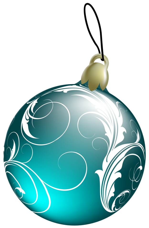Beautiful Blue Christmas Ball PNG Clipa