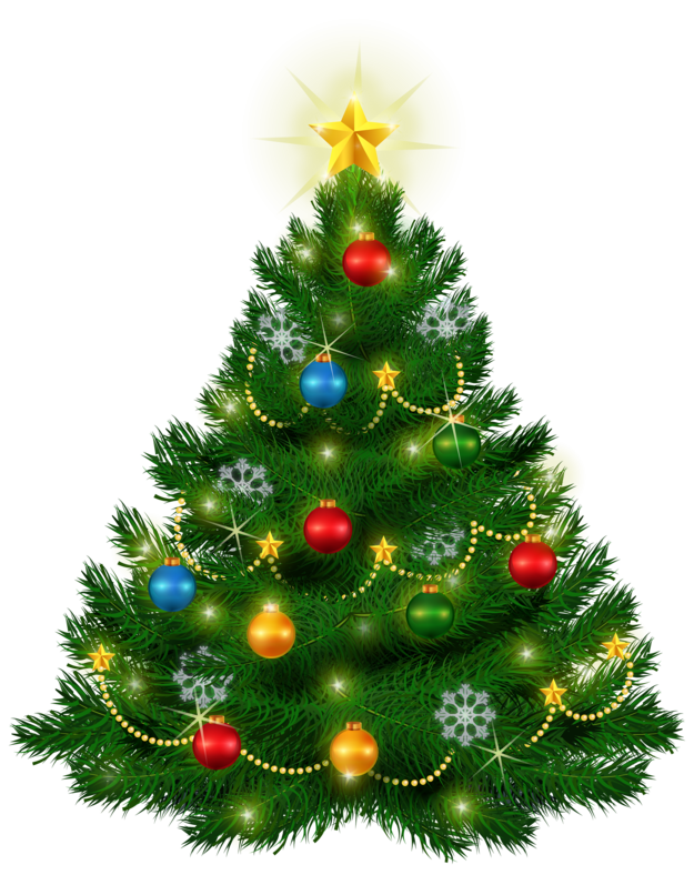 Beautiful Christmas Tree PNG Clipa
