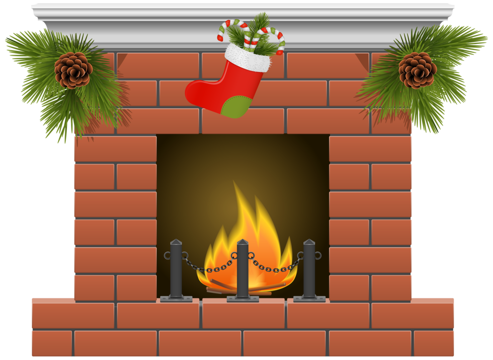 Christmas Fireplace PNG Clipart
