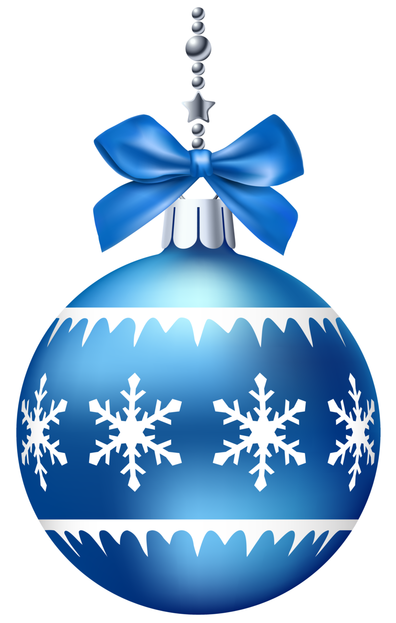 Blue Christmas Ball PNG Clip Art