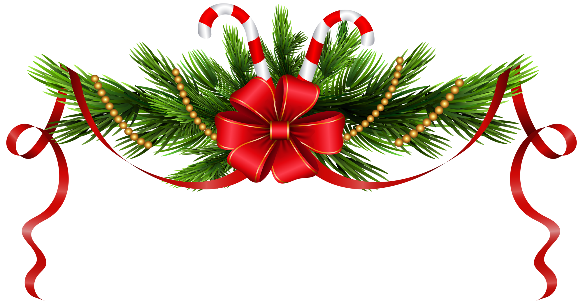 Christmas Pine Branches Decoration PNG Clip Art