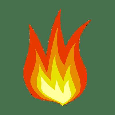 Simple Cartoon Flame Png Transparent