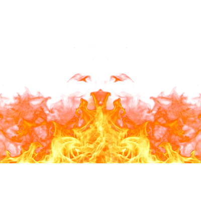 flames footer png transparent
