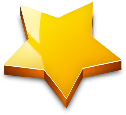 3d effect star gold png