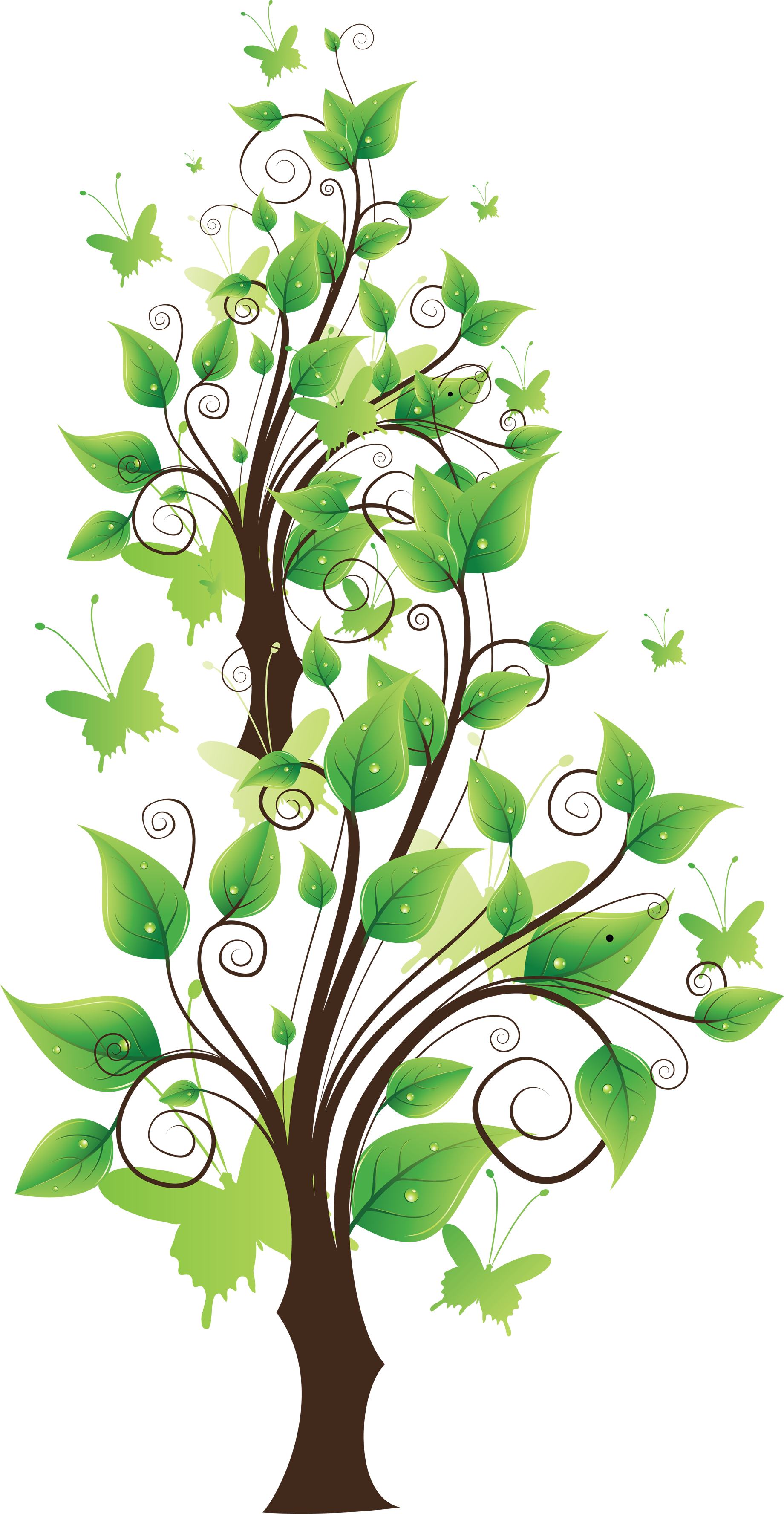 tree png cartoon color