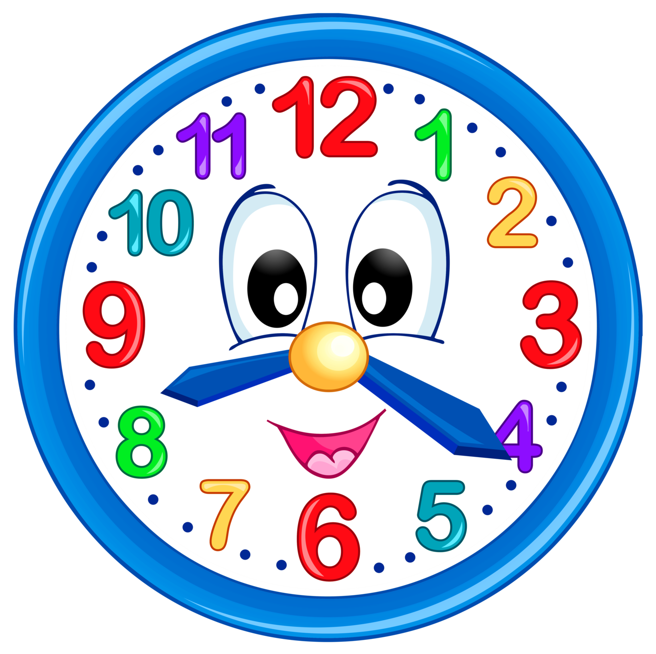 Cute Clock PNG Clip Art For Kids
