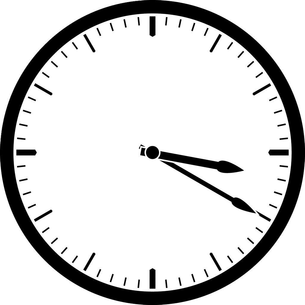 simple black and white clock