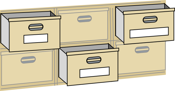 furniture file cabinet drawers clip art at clker com vector clip art VRoarQ clipart