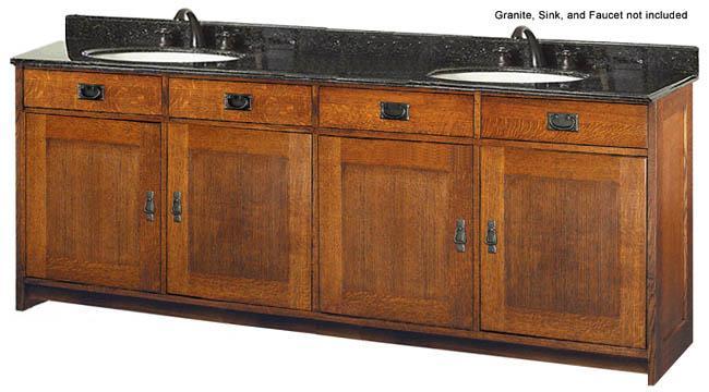 Style Furniture Oak Furniture Calabasas Double Sink ...