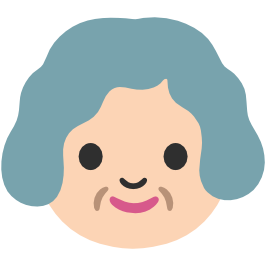 emoji android older woman