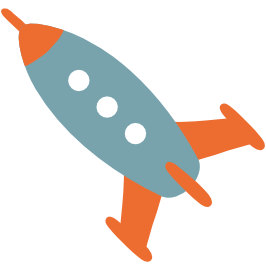 emoji android rocket