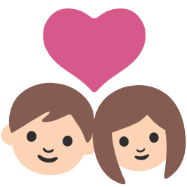 emoji android couple with heart