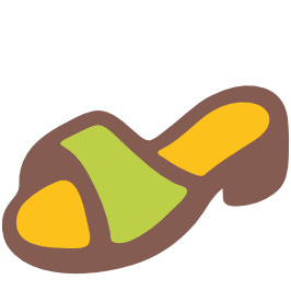emoji android womans sandal