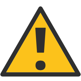 Triangle warning sign android