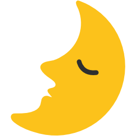 emoji android first quarter moon with face