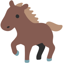 emoji android horse