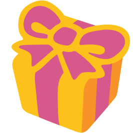 emoji android wrapped present