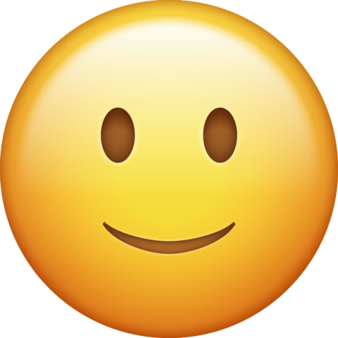 Slightly Smiling Emoji Png Icon