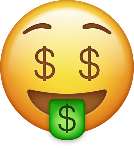 Money Emoji Png transparent background