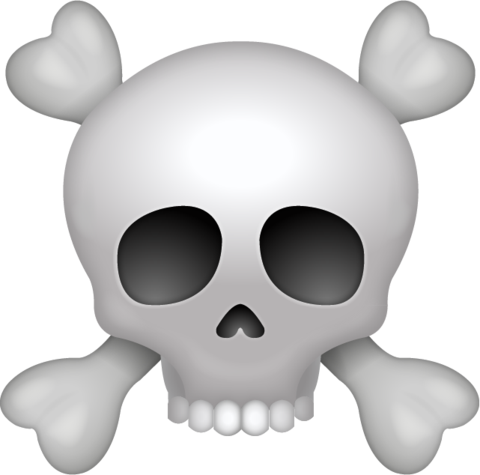 Pirate Skull Emoji Png
