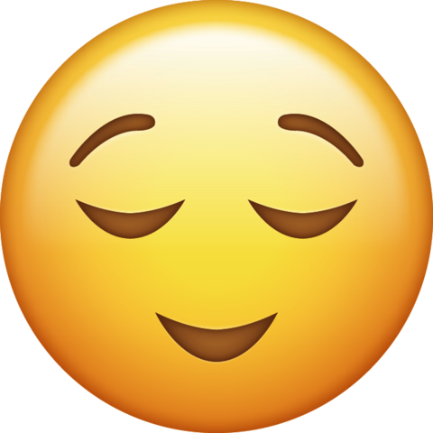 Relieved Emoji Png 2