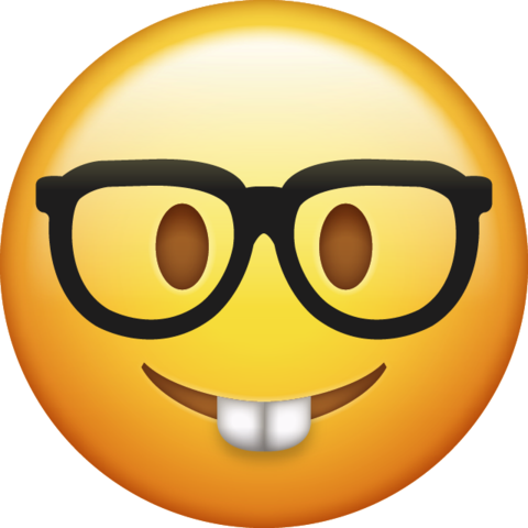 Nerd Emoji Png Transparent Background