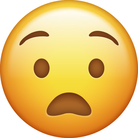 Anguished Emoji png transparent Icon