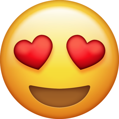 Image result for heart eye emoji png