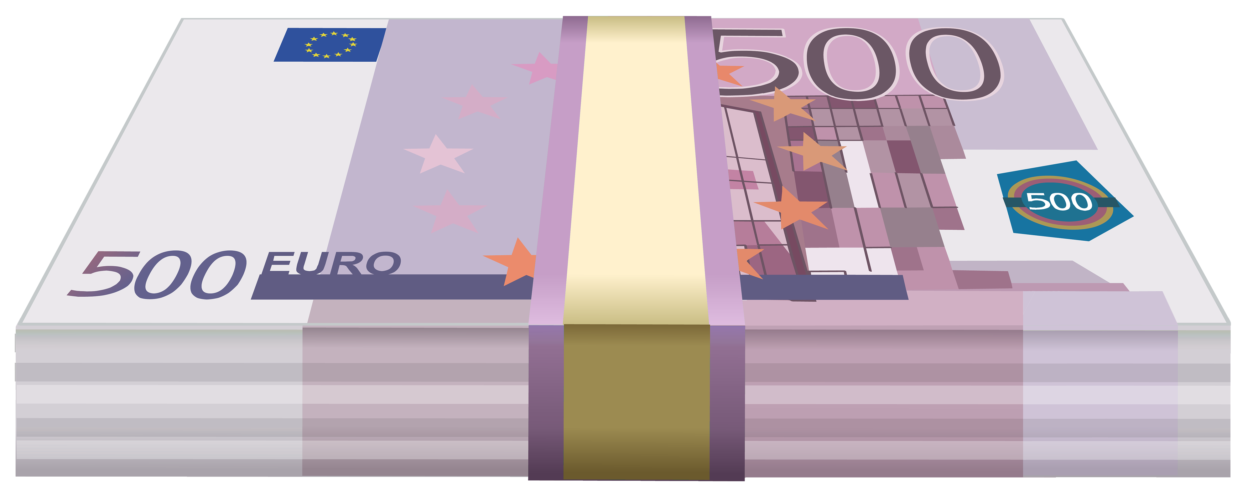 Wad of Euros PNG Clipart