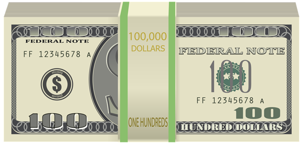 Wads of Dollars Transparent PNG Clip Art Image