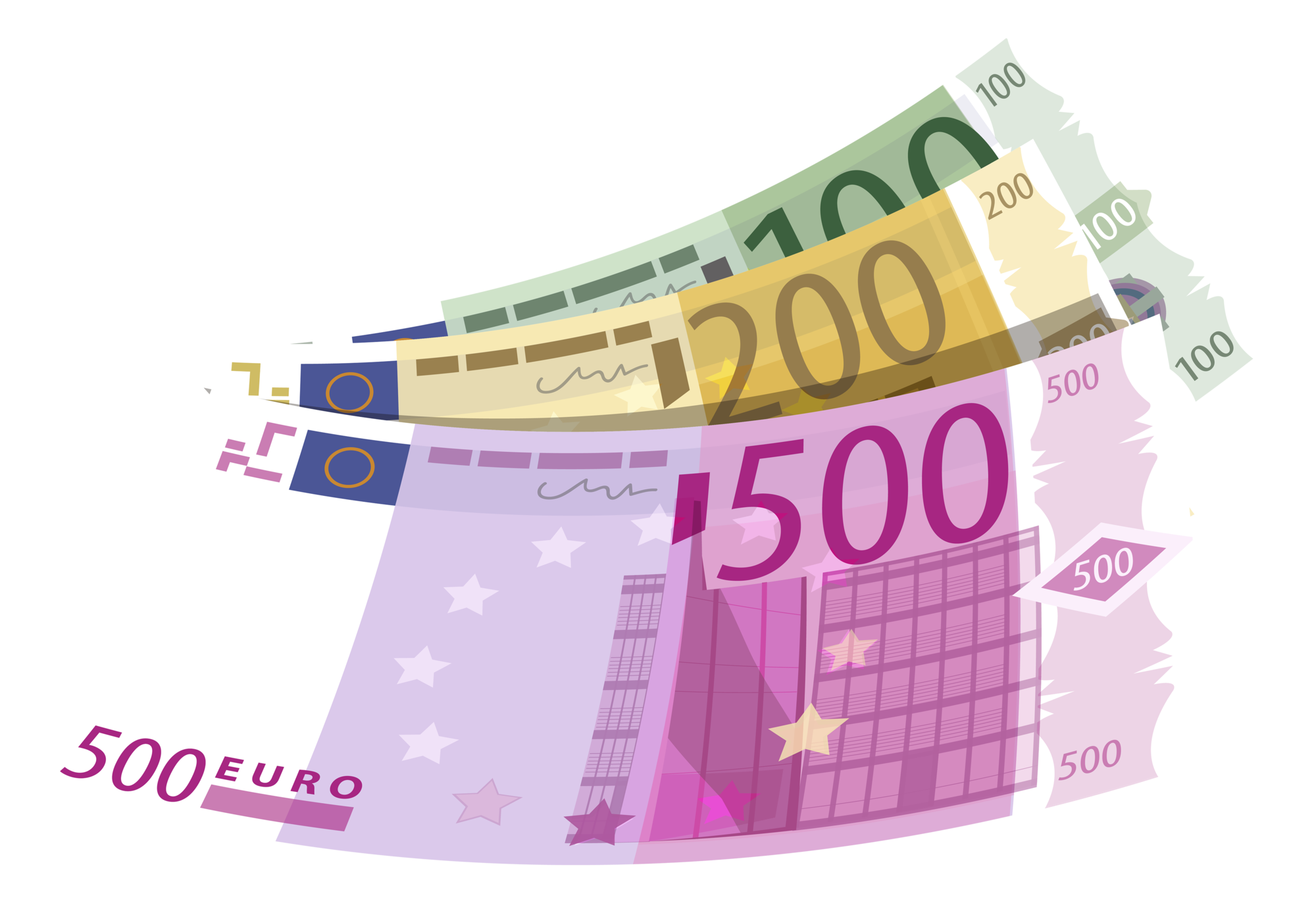 Banknotes Euro PNG Clipart 653