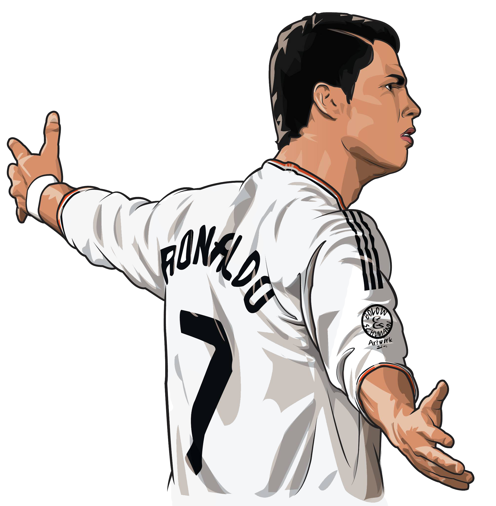 cr7 ronaldo cartoon png transparent
