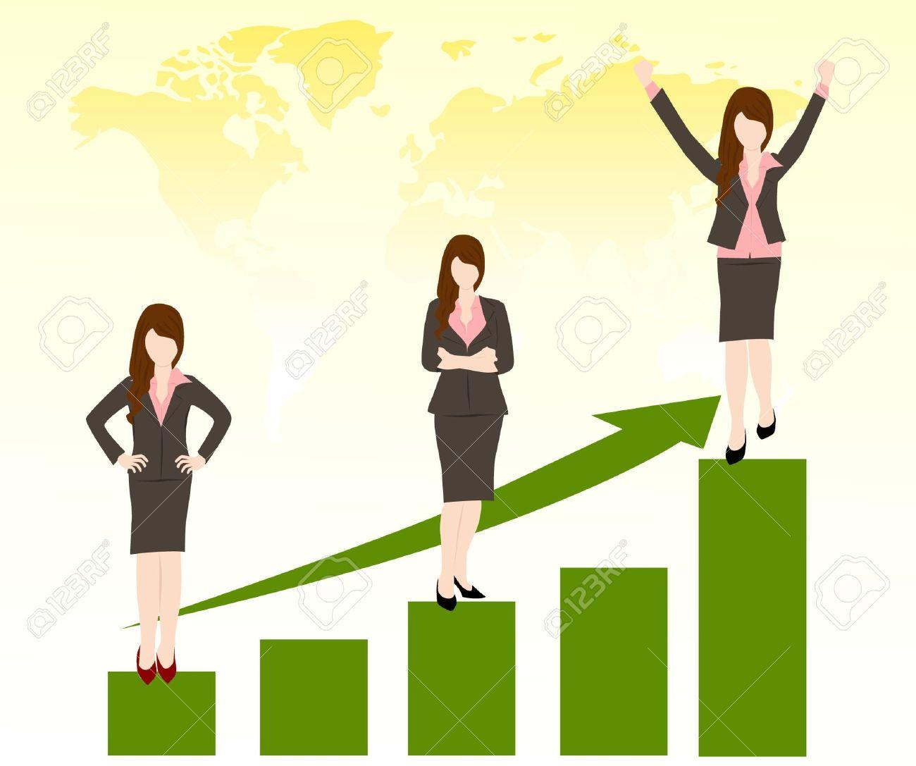 female job promotion clipart post