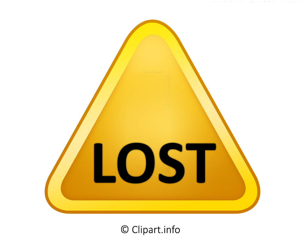 3d yellow sign lost png clipart transparent background