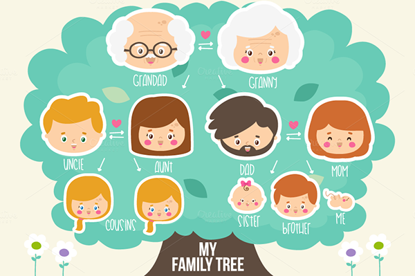 my family tree clip art cartoon