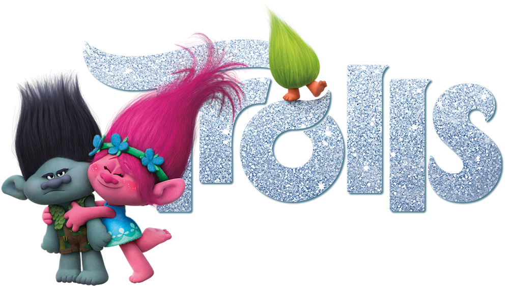 trolls movie with logo png