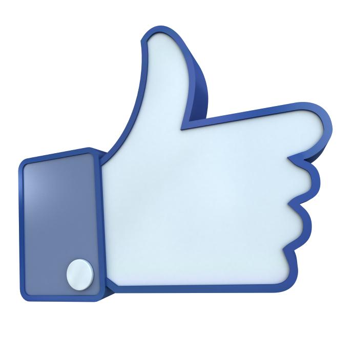 Facebook Like 3d Clipart