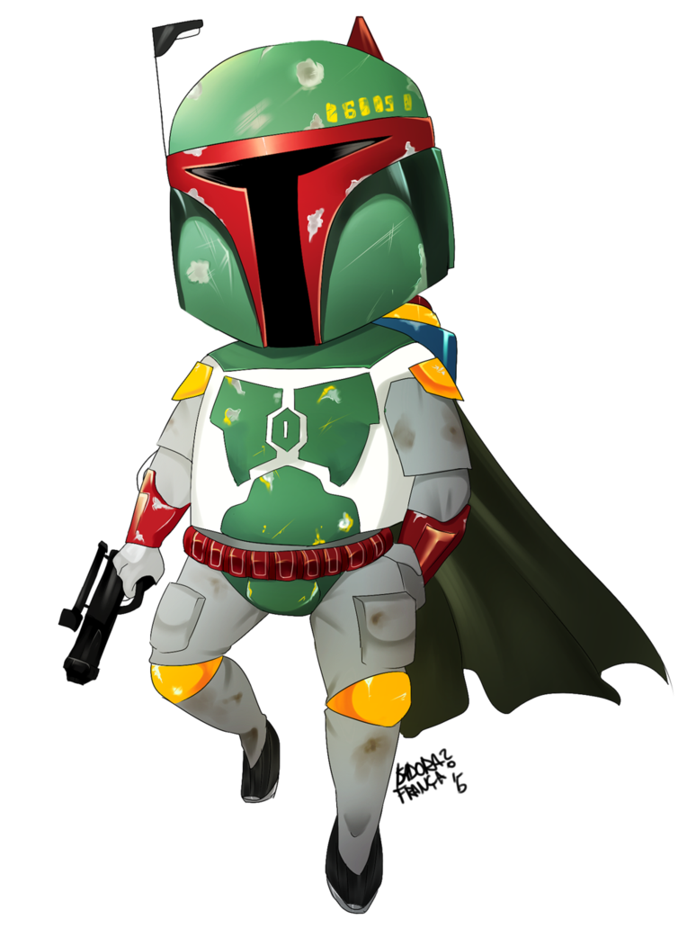 star wars boba fett by isaddes