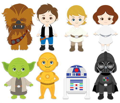 wall stickers for kids star wars clipart