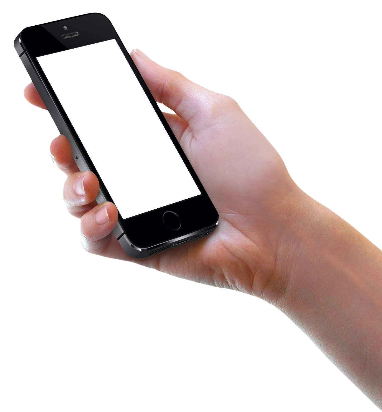 Hand Holding Black iPhone Mobile Png Image