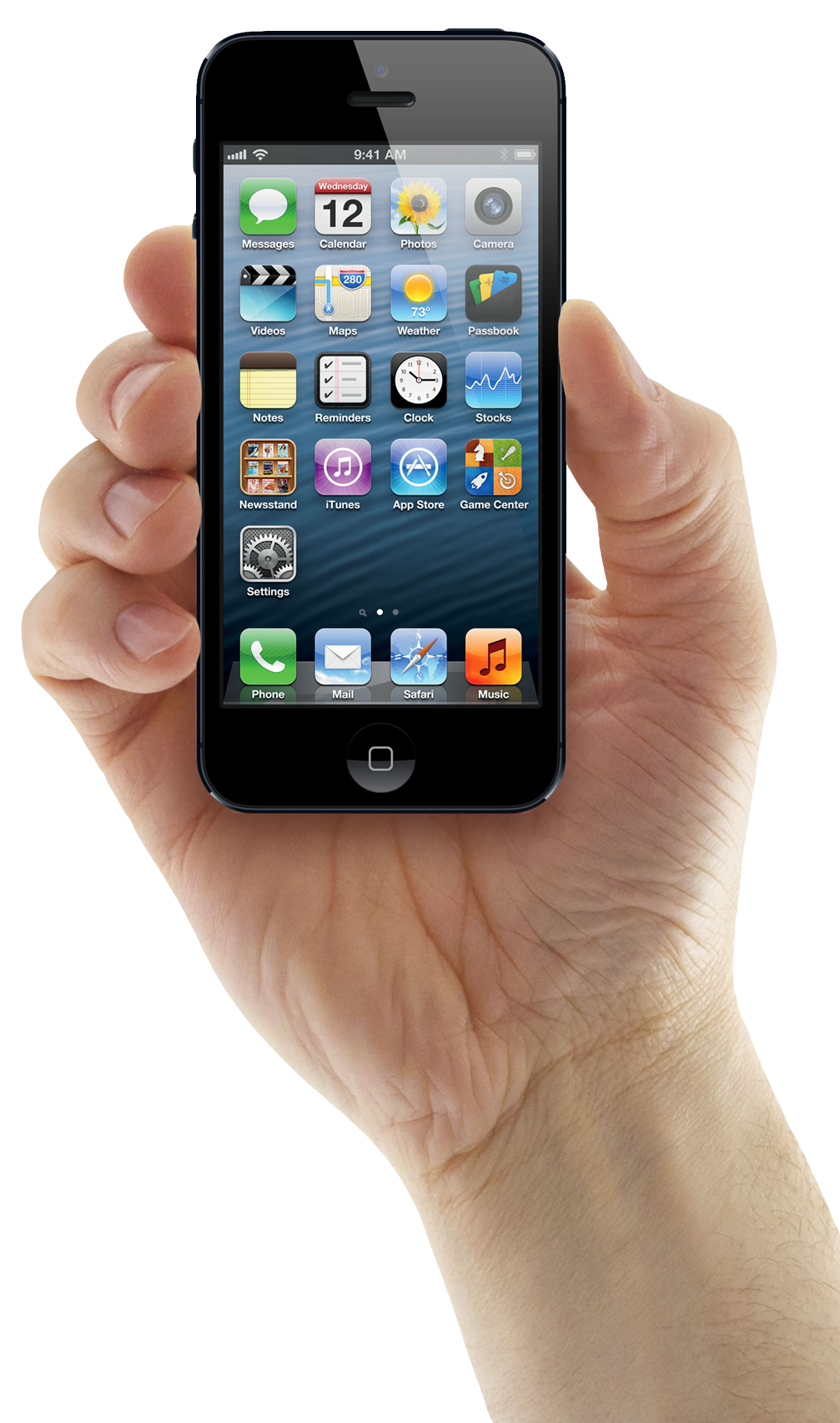 Hand Holding iPhone Mobile Png Image