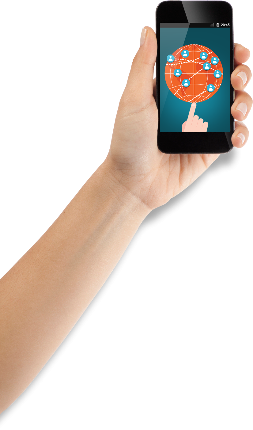 mobile in hand png