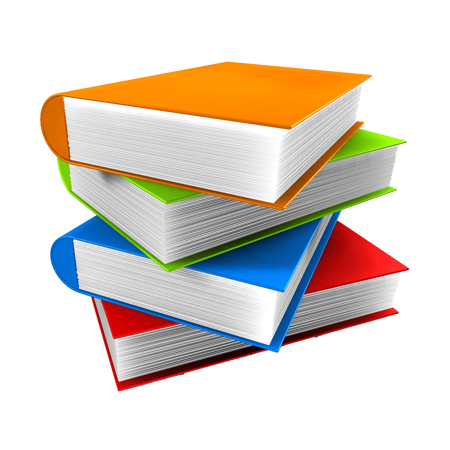 13 books png image with transparency background