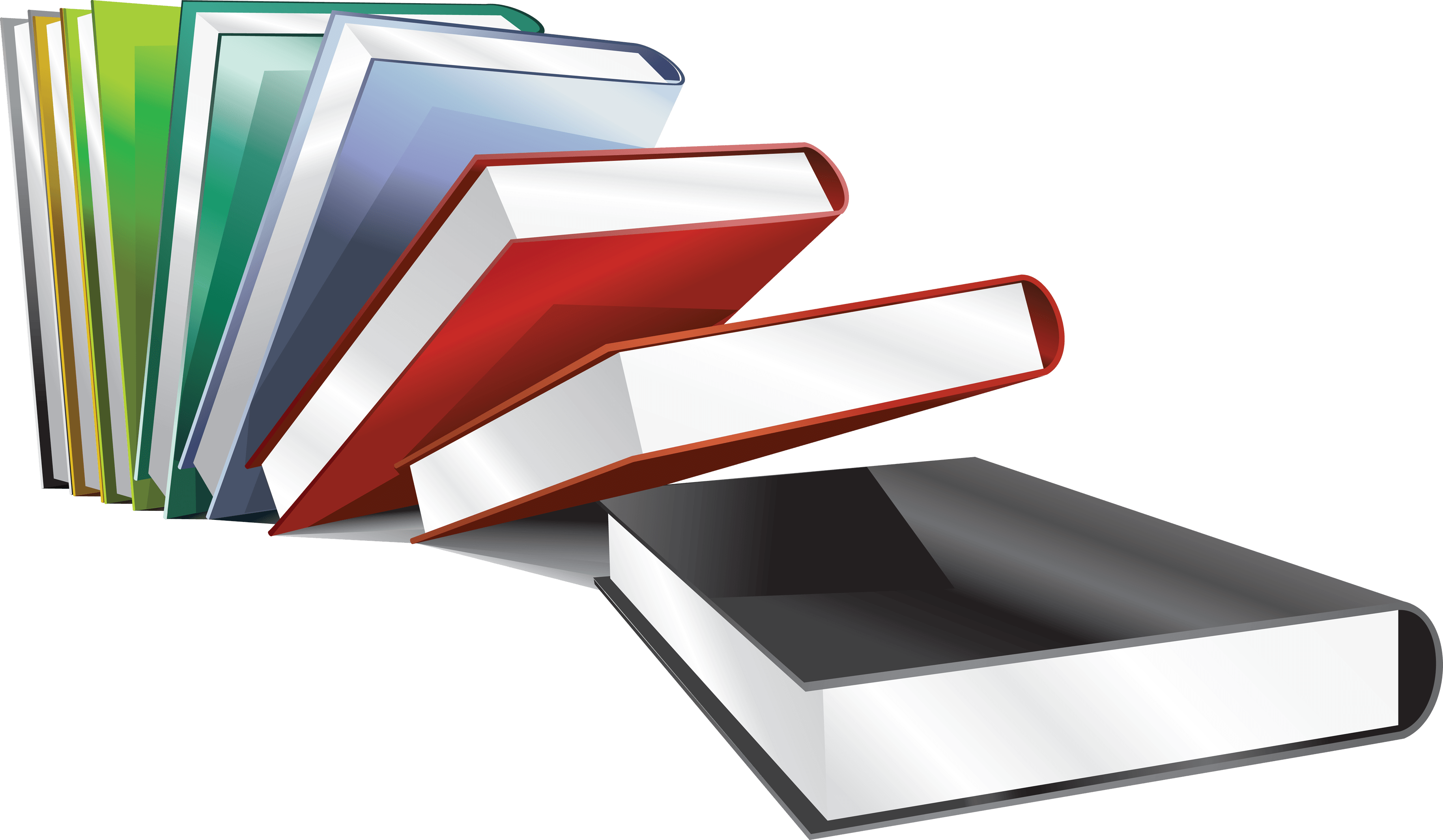 18 Books Png Image With Transparency Background