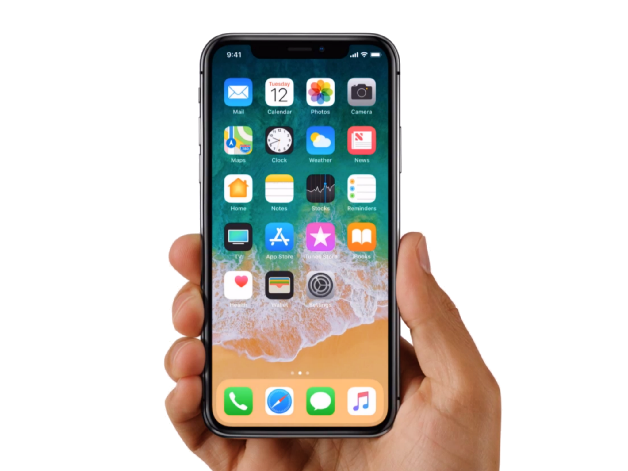Iphone X 10 With Hand Png