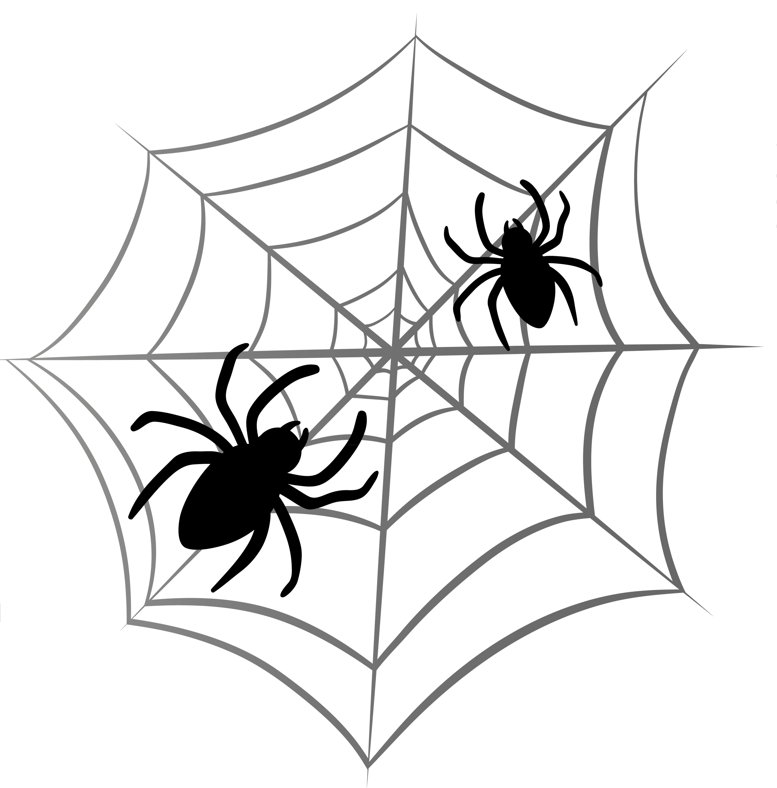 Halloween spider web clipart 2 clipartcow